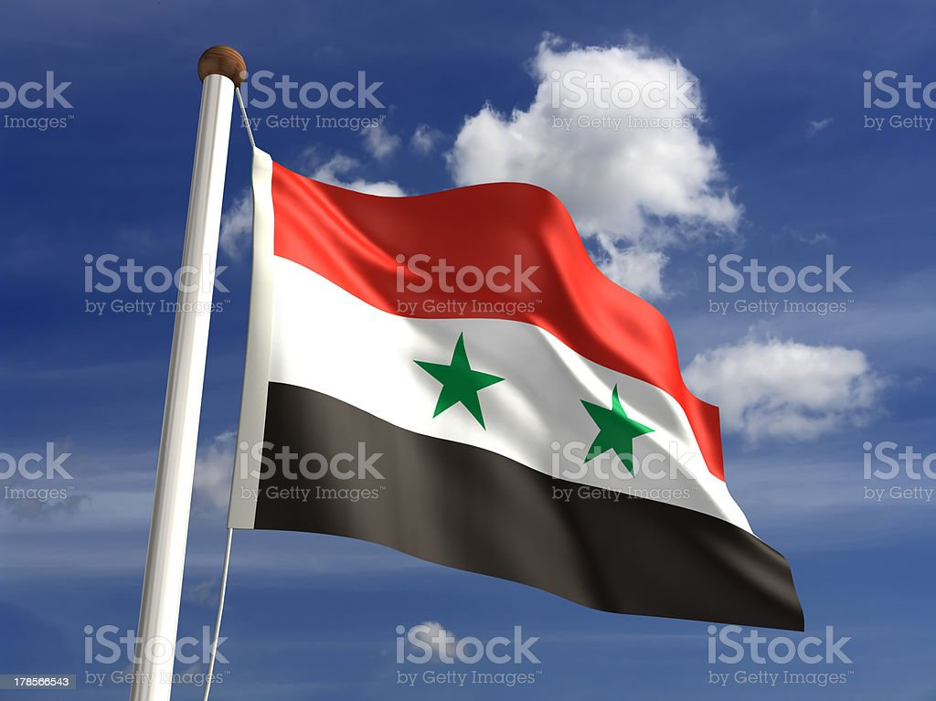 Syria flag (with clipping path) royalty-free stock photo