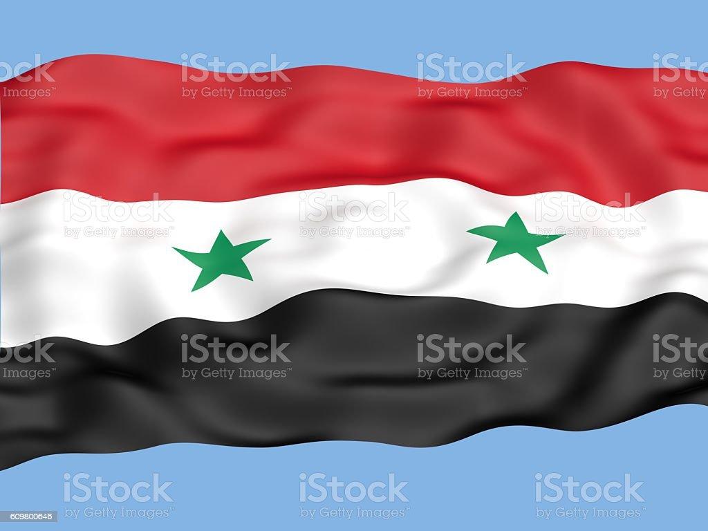 syria flag stock photo