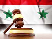 Syria flag with Gavel
