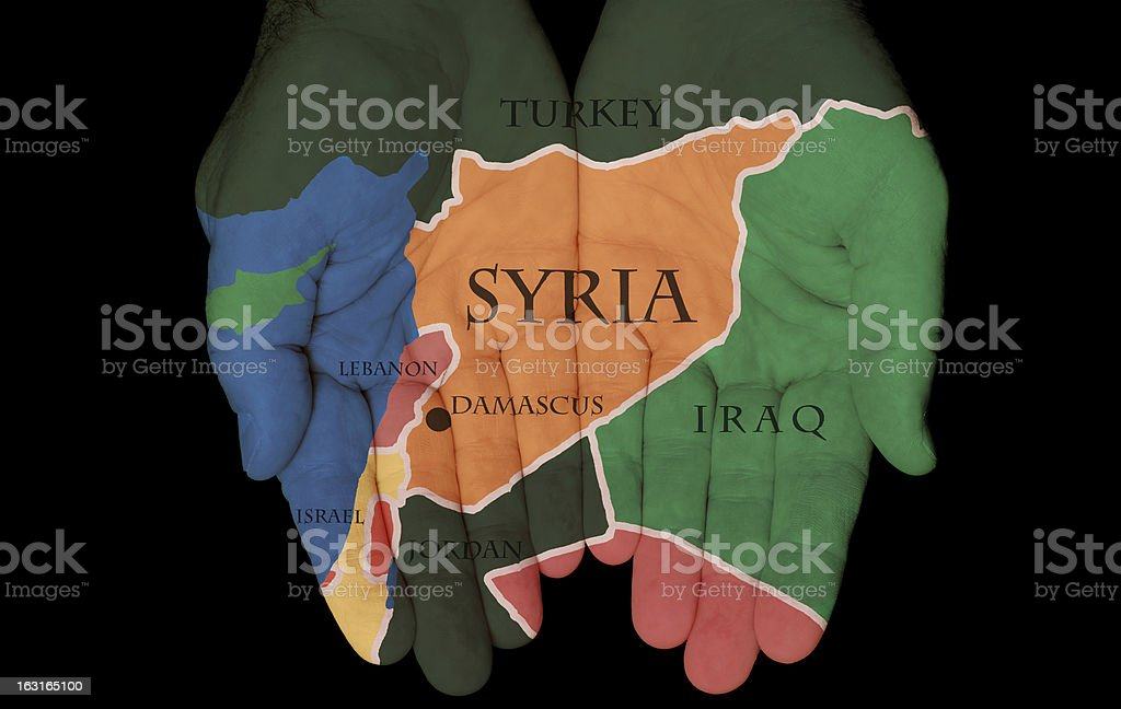 Syria In The Hands Of It's People royalty-free stock photo