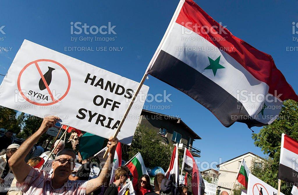 Syria Protest stock photo