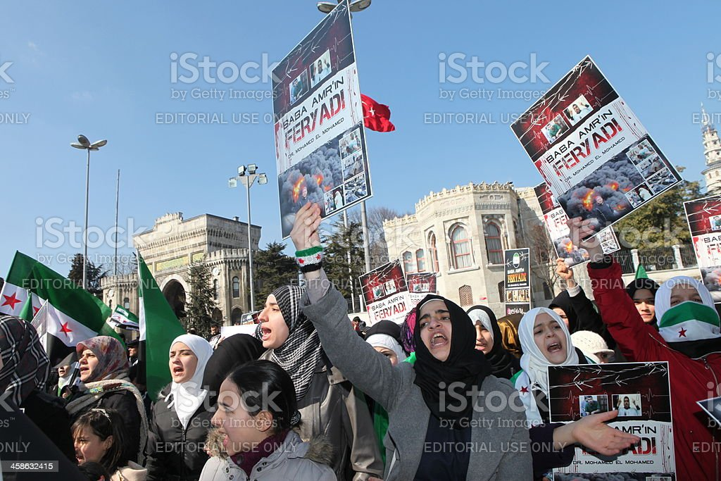 Syria Protest stock photo