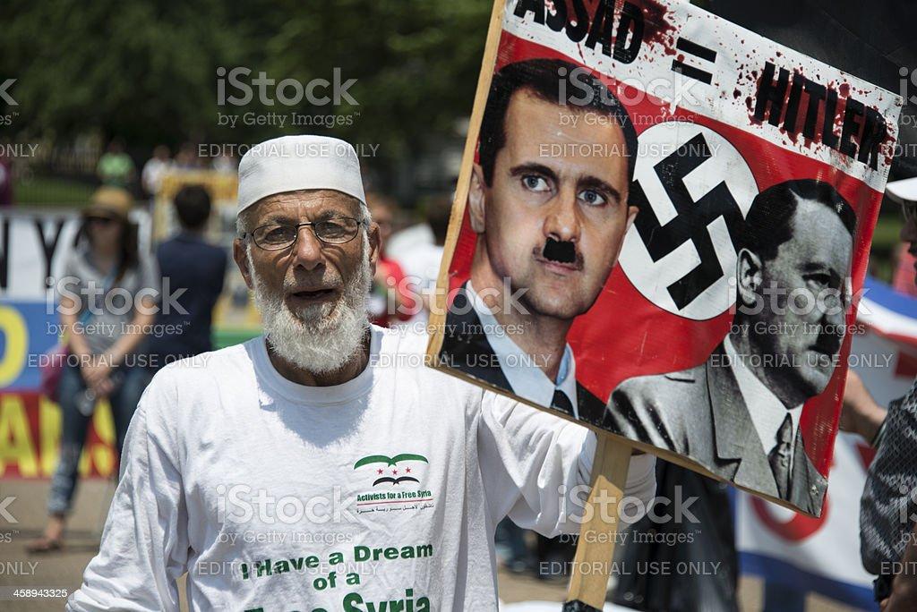 Syria Protest royalty-free stock photo