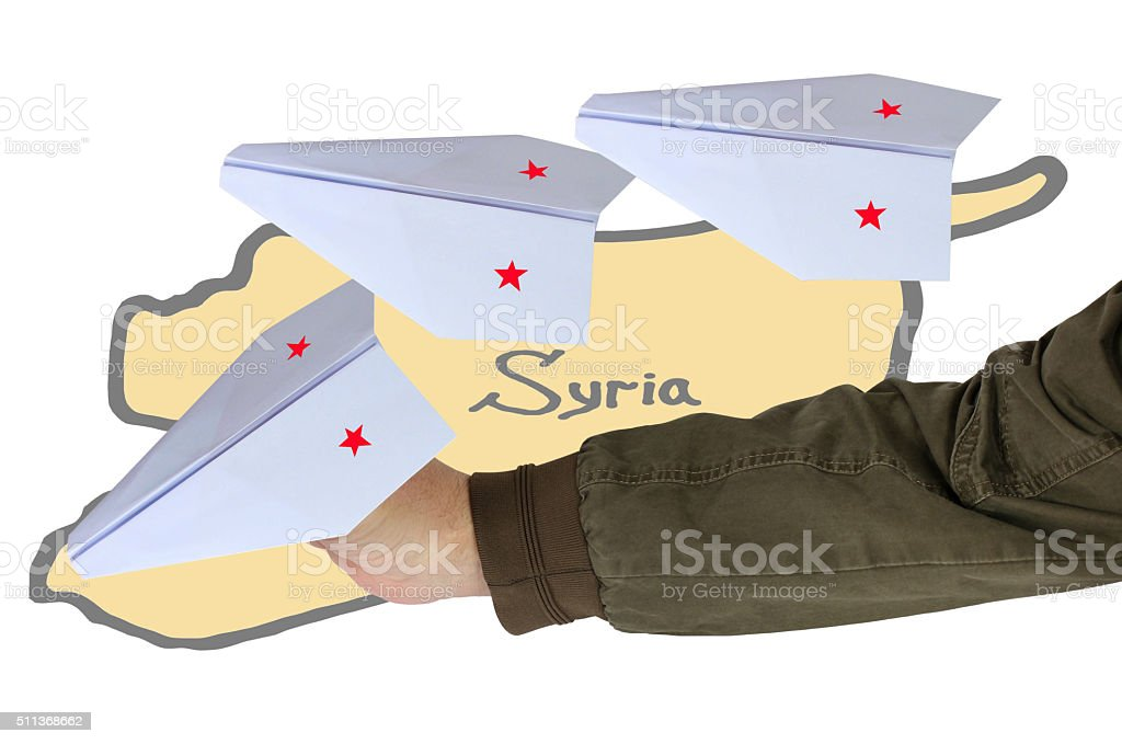 Syria. Russian aircraft (planes) stock photo