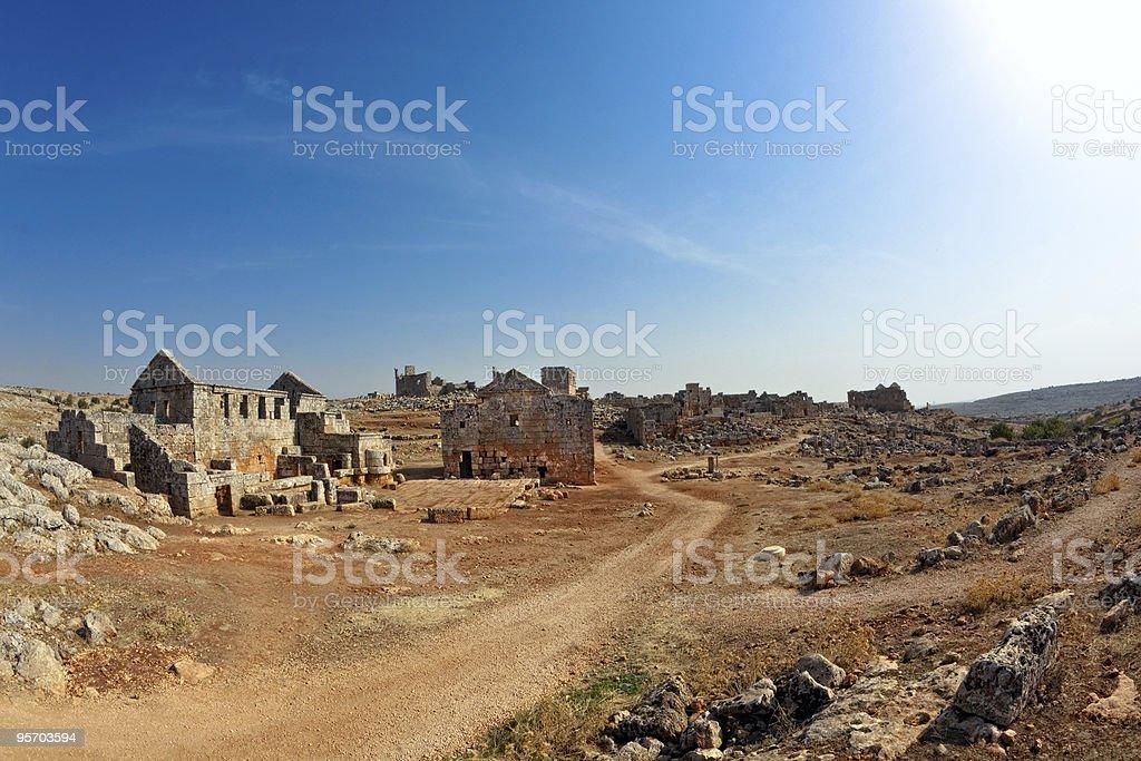 Syria - The Dead Cities, Serjilla royalty-free stock photo