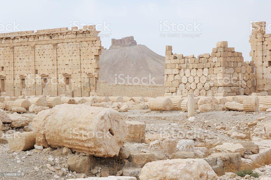 Syria, View on ancient cities - Palmyra stock photo