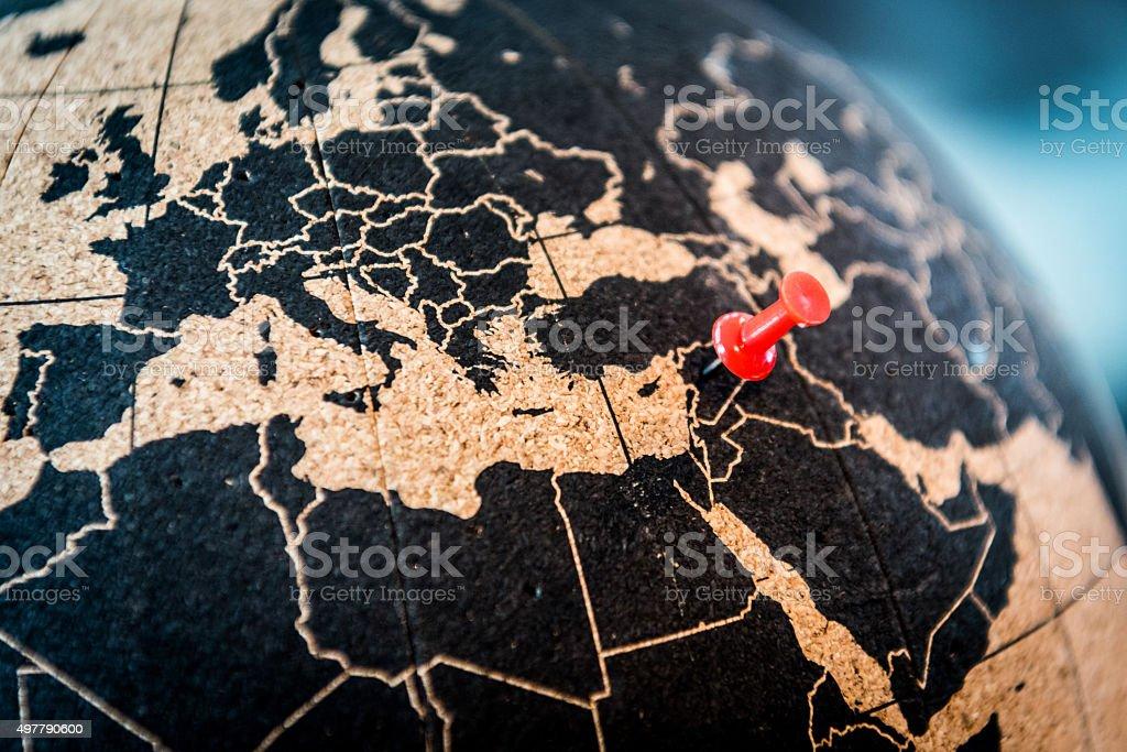 Syria, zone of conflict stock photo
