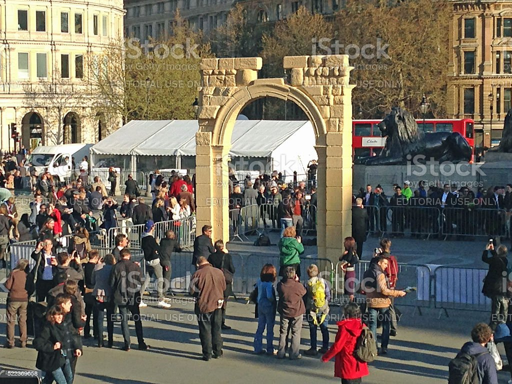 Syrian Arch in Trafalgar Square, London stock photo