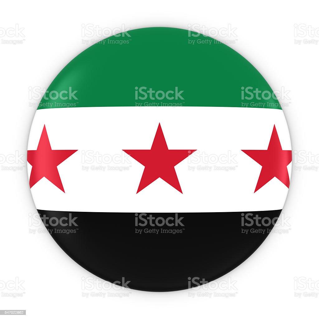 Syrian Opposition Flag Button - Flag of Syria Badge stock photo