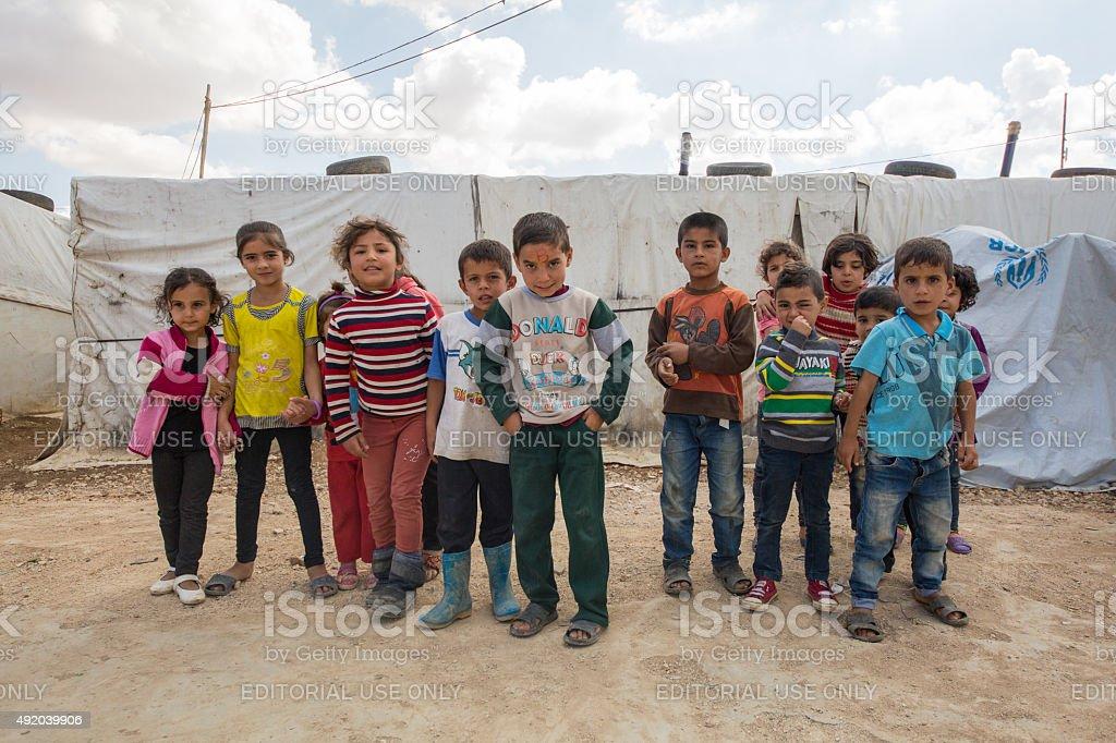 Syrian Refugee Children stock photo