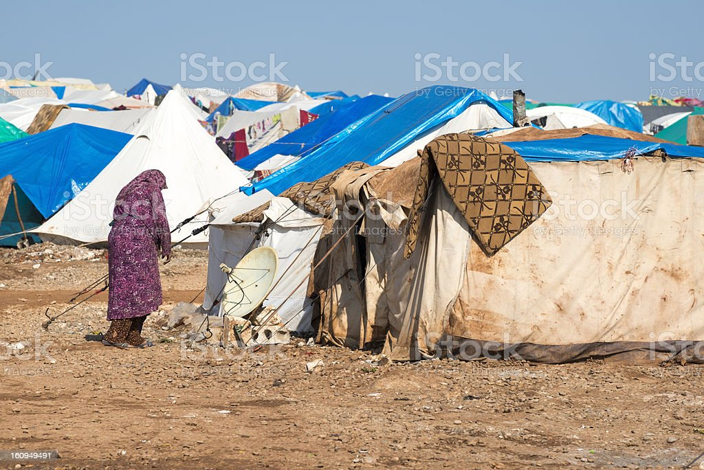 Syrian refugee crisis stock photo