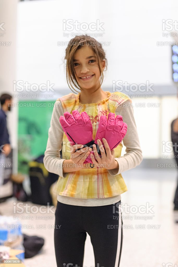 Syrian Refugees Arrival stock photo