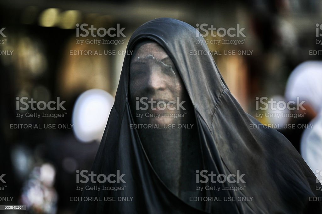 Syrian woman stock photo