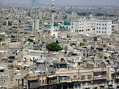 Syria,Panorama of the city of Aleppo from the citadel