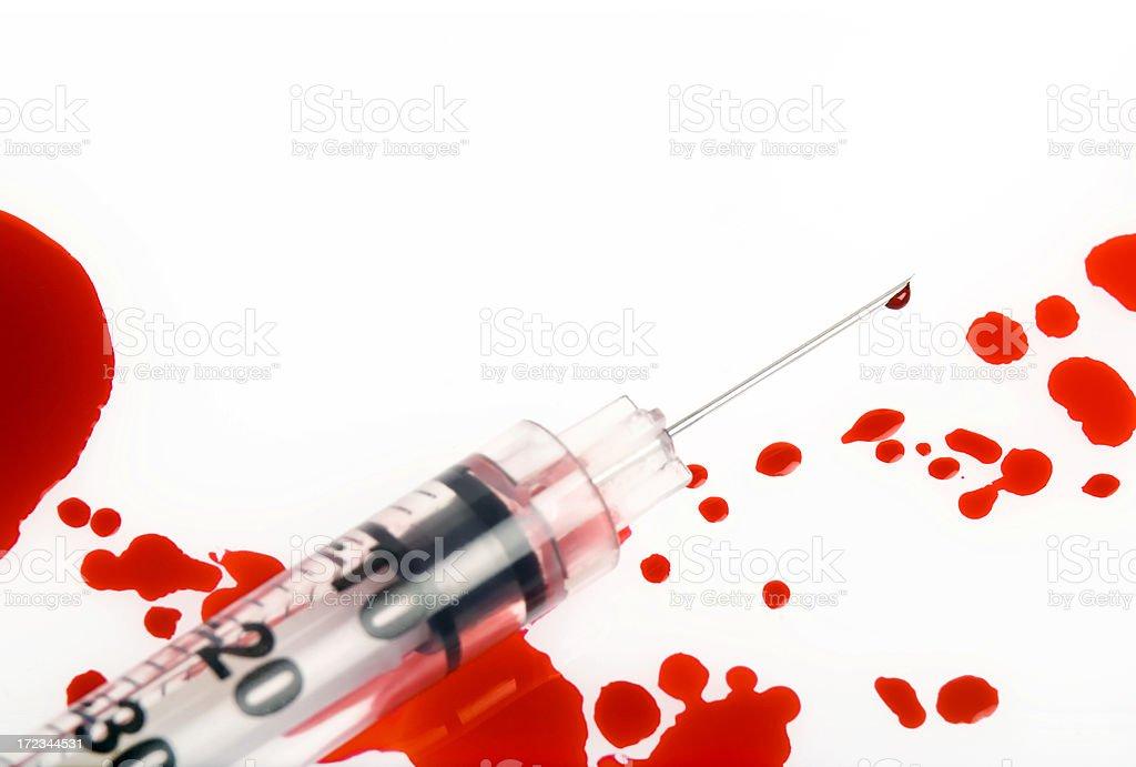Syringe and blood royalty-free stock photo