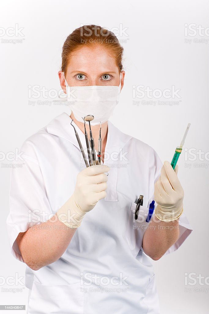 Syringe and medical tools royalty-free stock photo