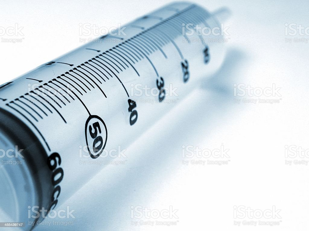 Syringe - Blue Tint royalty-free stock photo