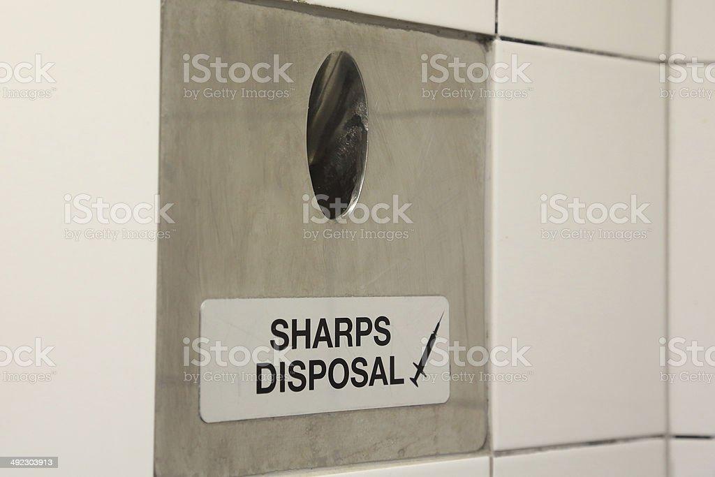 Syringe Disposal stock photo