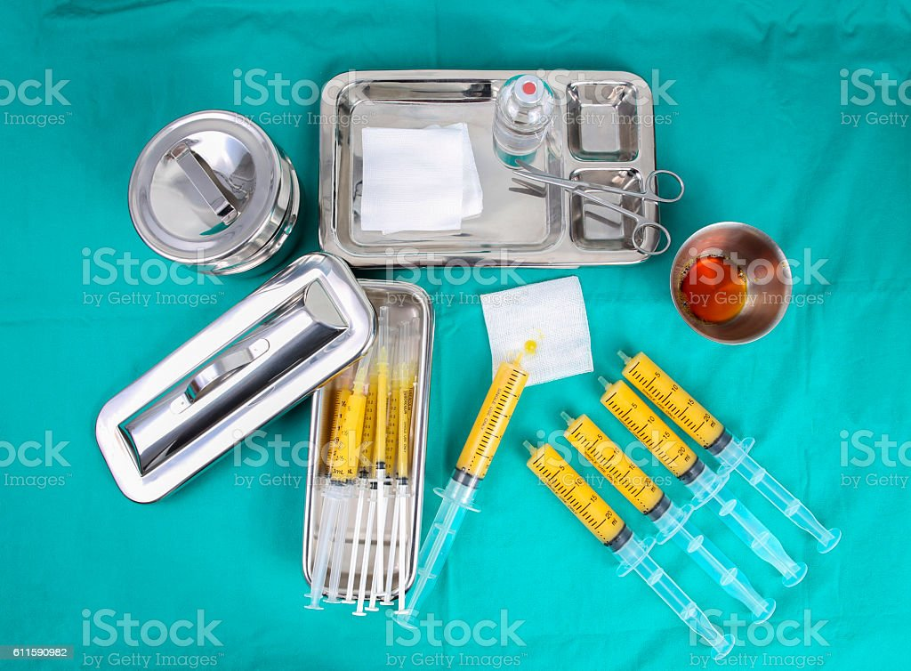 syringes of fat for do fat grafting stock photo