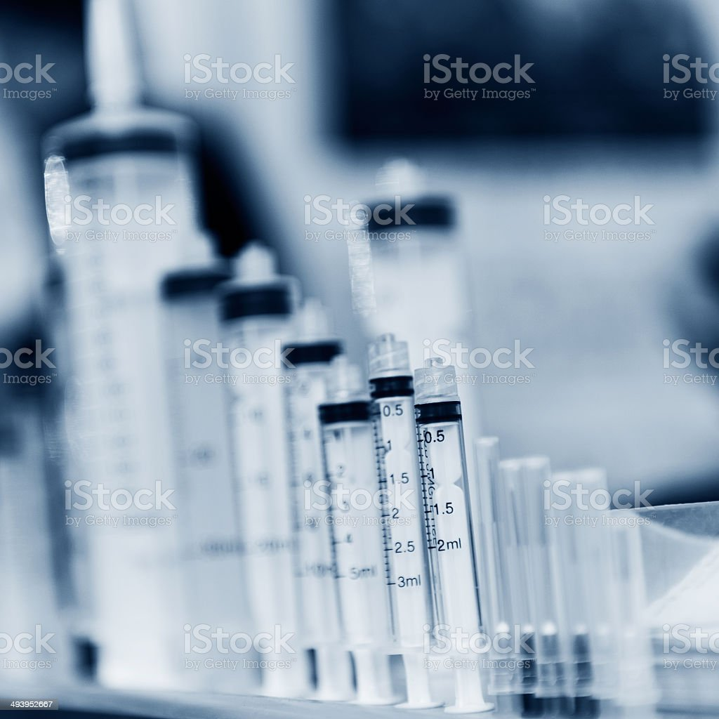 syringes stock photo