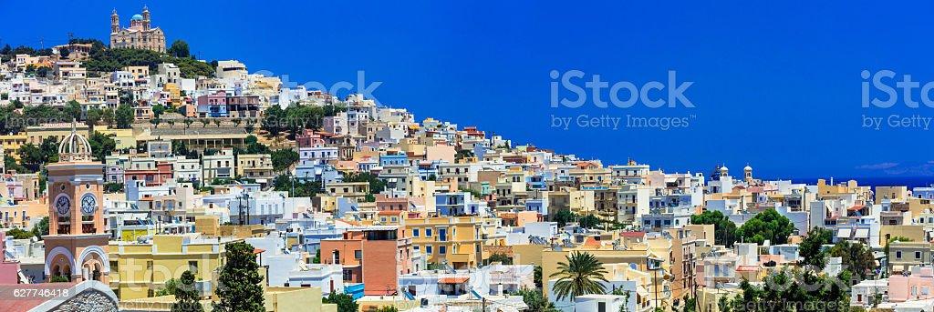 Syros island, Greece stock photo