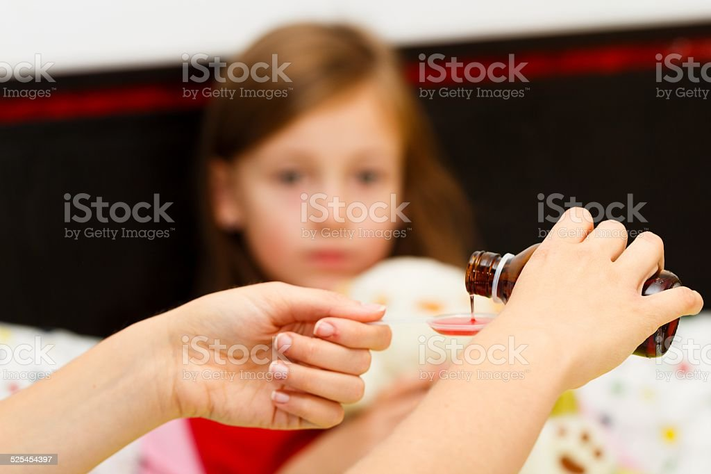 Syrup for Throat Pain stock photo