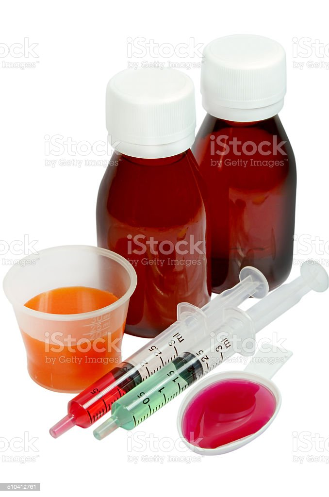 Syrup Medication. stock photo