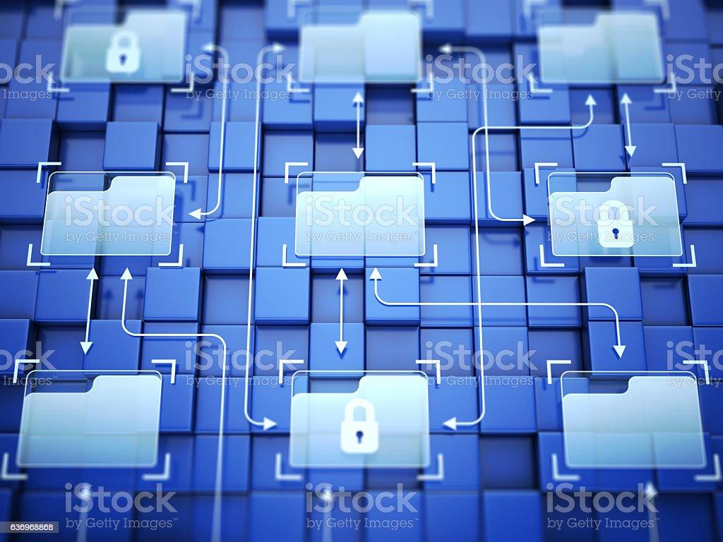 System folders stock photo