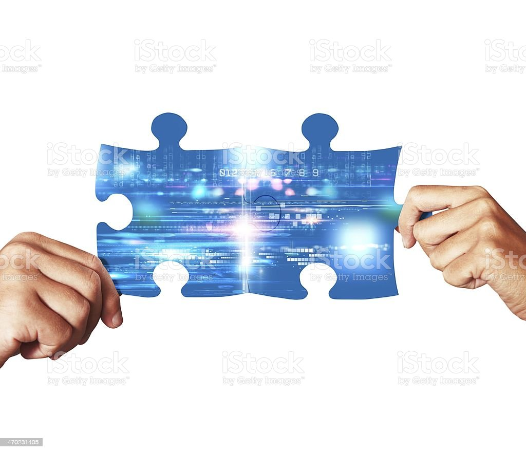 System integration concept stock photo