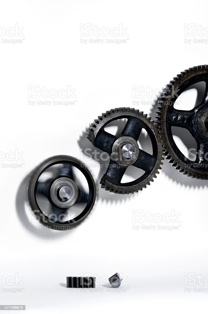 System not working 'Broken' gear royalty-free stock photo