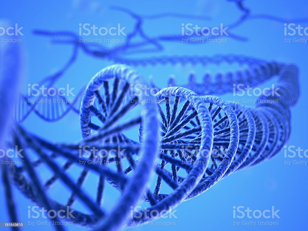 DNA system royalty-free stock photo