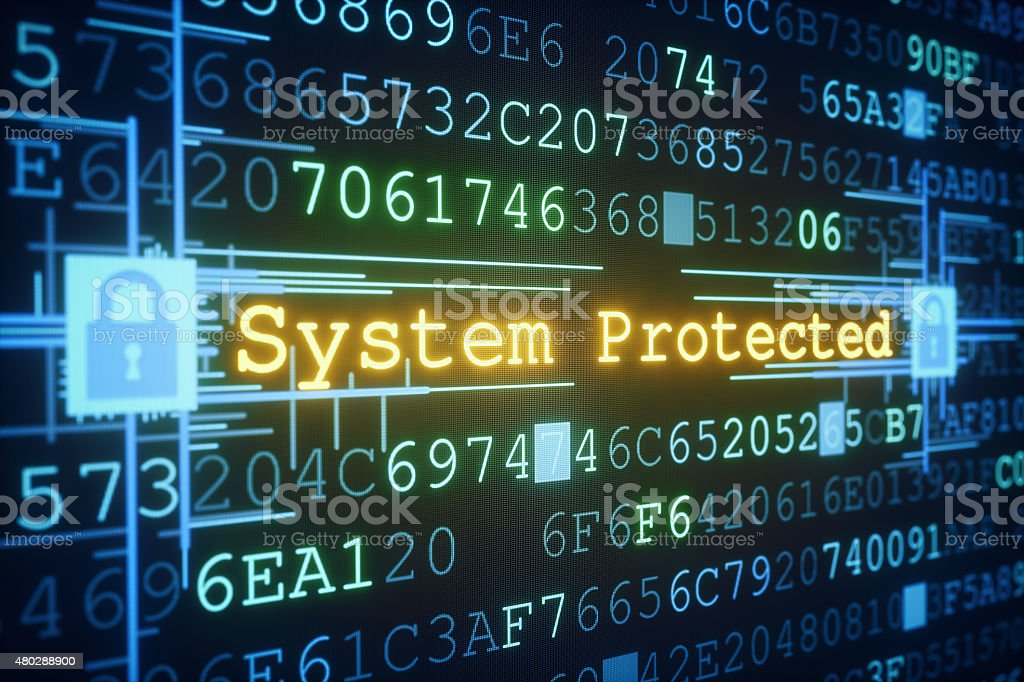 System Protection A01 stock photo
