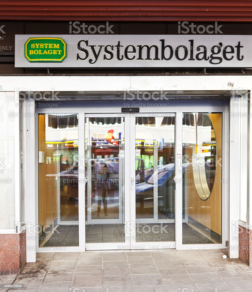 Systembolaget, government owned chain of liquor stores. stock photo