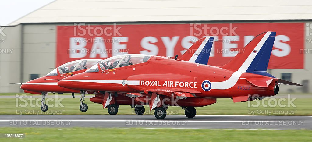BAE Systems Hawk Red Arrows royalty-free stock photo