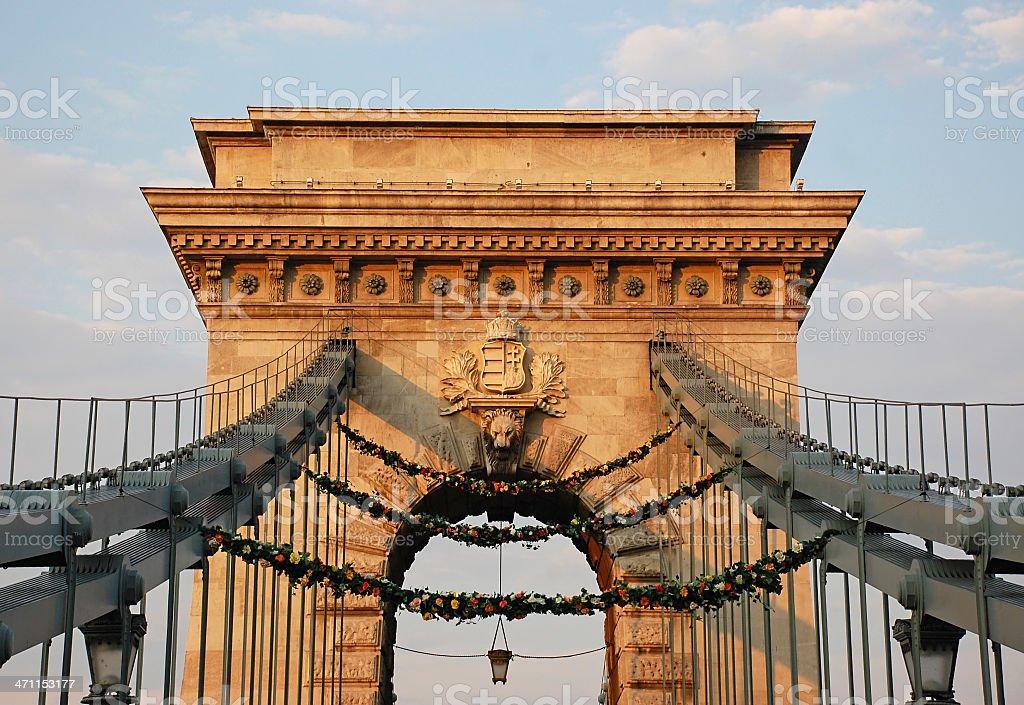 Széchenyi bridge royalty-free stock photo