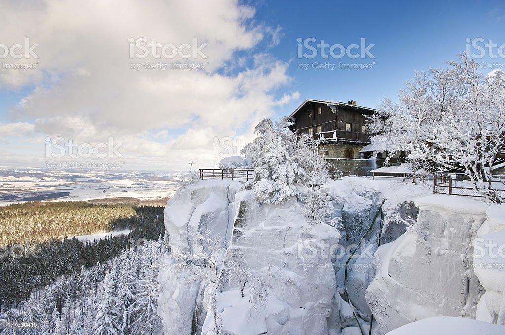 Szczeliniec Mountain, Poland stock photo
