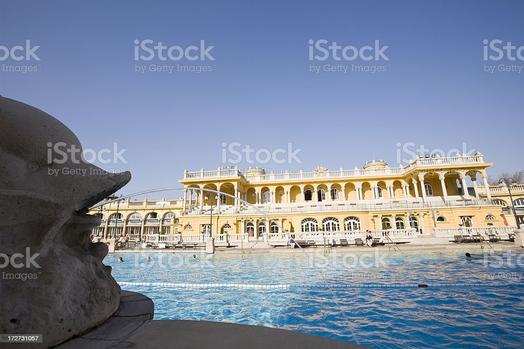 Szechenyi Bath Budapest royalty-free stock photo