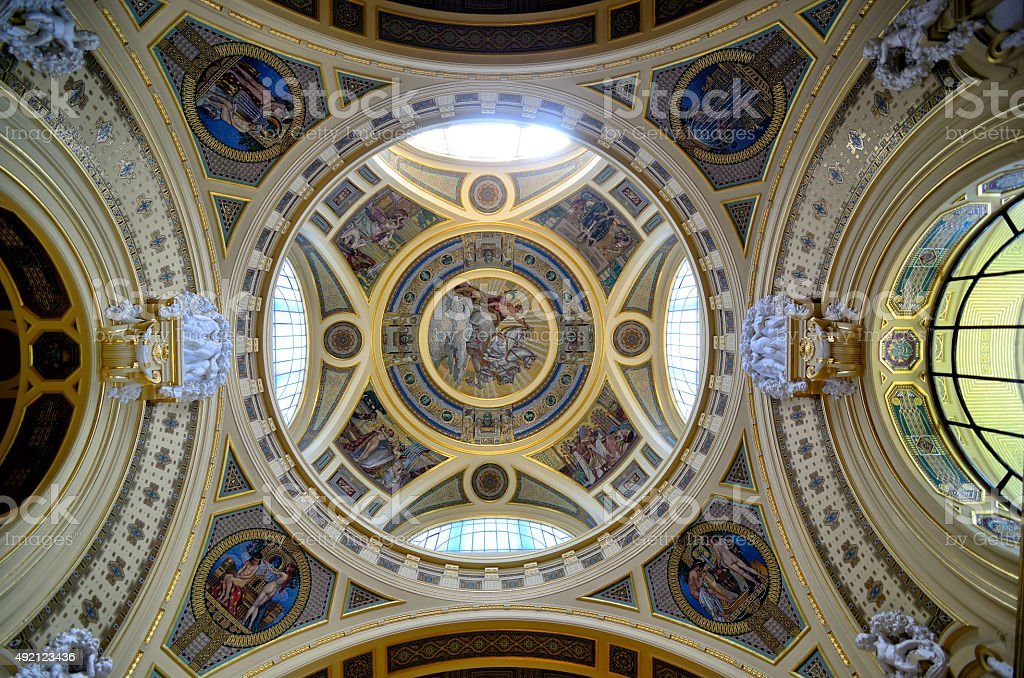 Szechenyi baths interior stock photo