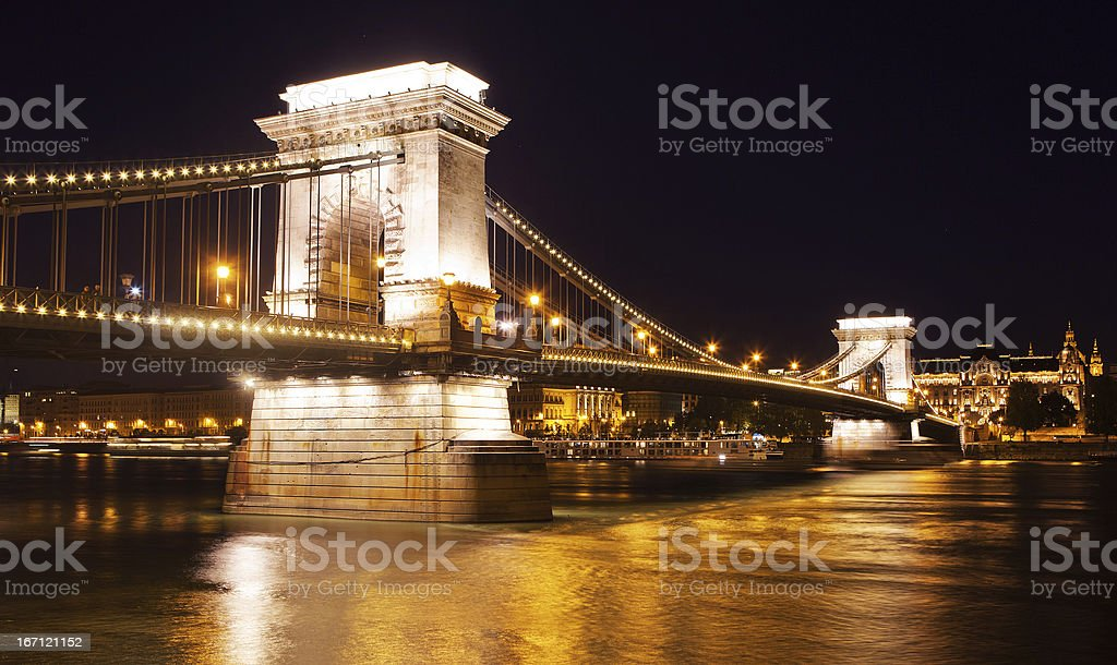 Szechenyi Chain Bridge in Budapest. royalty-free stock photo