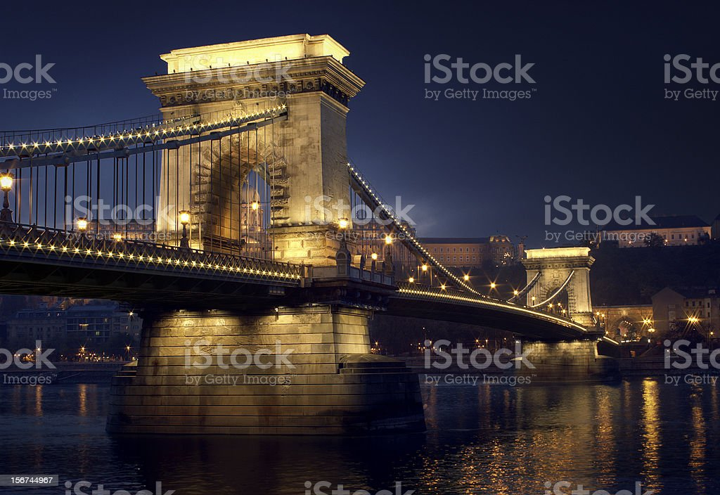 Szechenyi Chain Bridge royalty-free stock photo