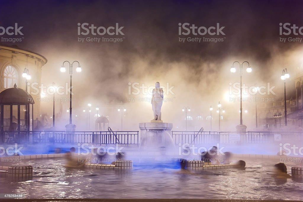 Szechenyi Spa in Budapest stock photo