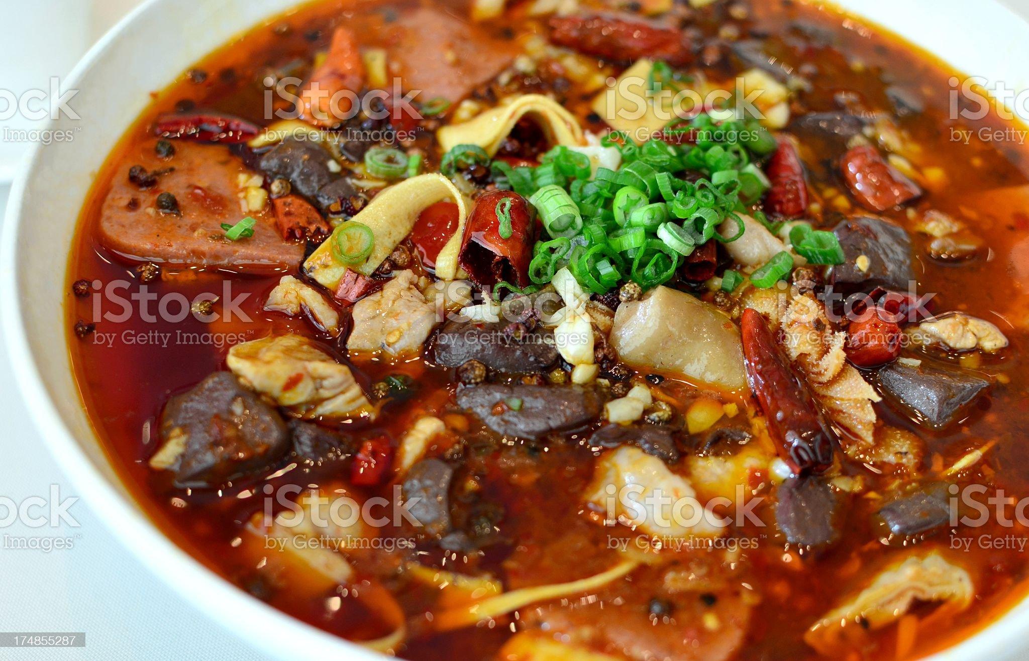 Szechuan spicy dish royalty-free stock photo