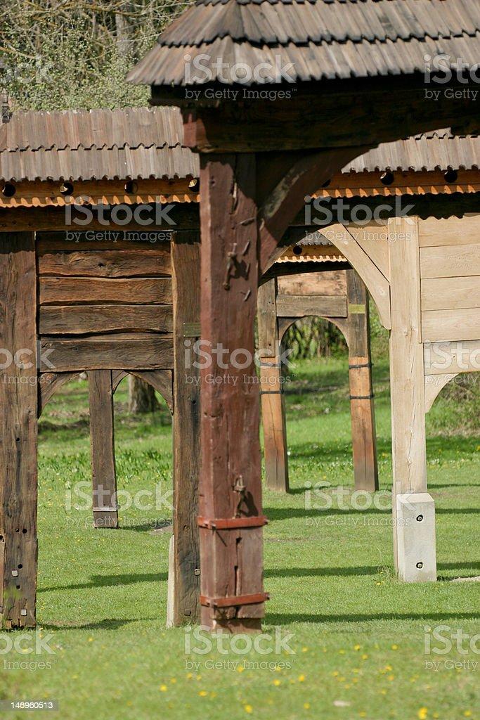 Szekler gates royalty-free stock photo