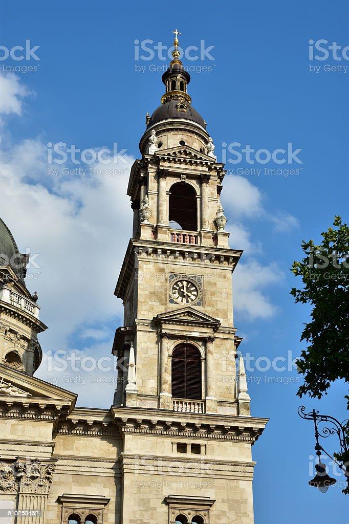 Szent Istvan Bazilika campanile stock photo