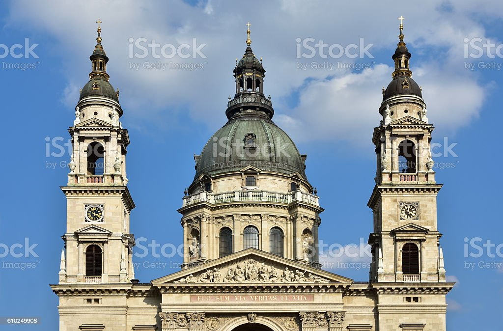 Szent Istvan Bazilika stock photo
