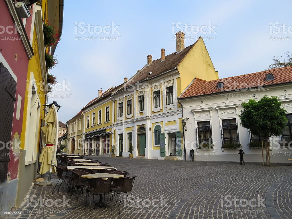 Szentendre, city of artists, galleries and museums, Hungary stock photo