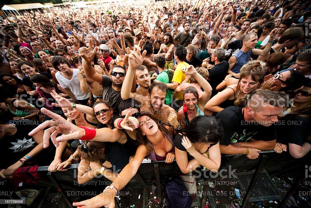 Sziget Music Festival Budapest Hungary stock photo