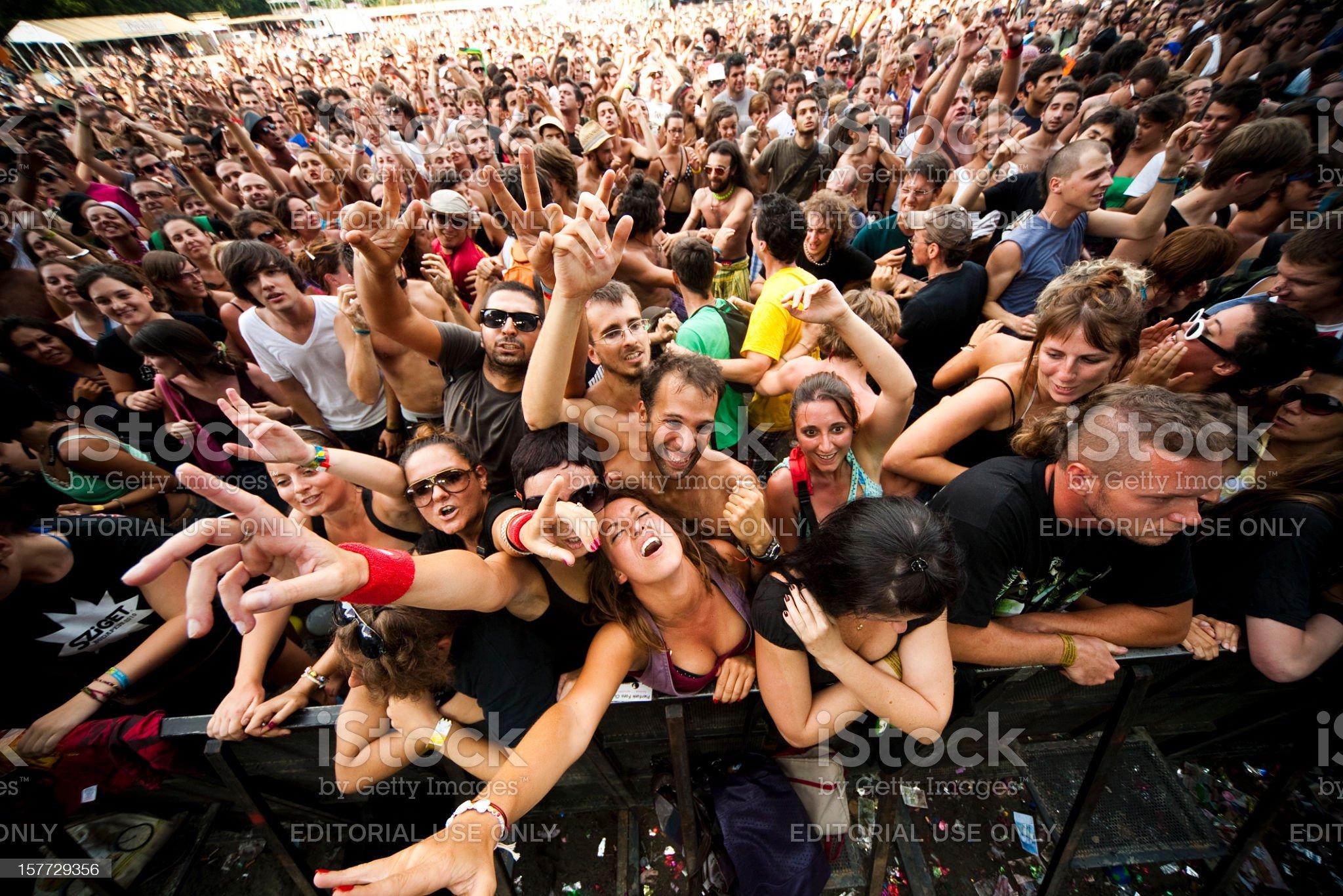 Sziget Music Festival Budapest Hungary royalty-free stock photo