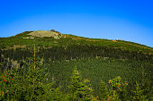 Szrenica hill in the Karkonosze National Park, Sudets in Poland.