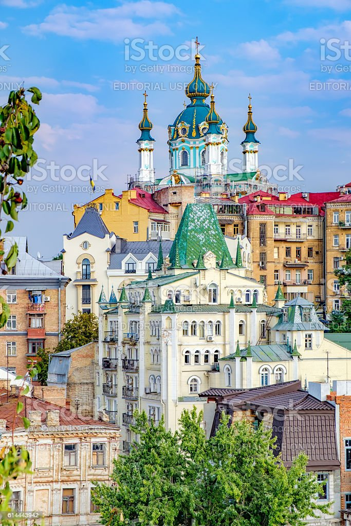 t. Andrew's Church in Kiev, Ukraine stock photo